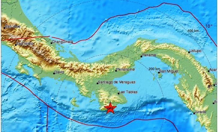 Sismo 5.3 sacude litoral pacífico de Panamá