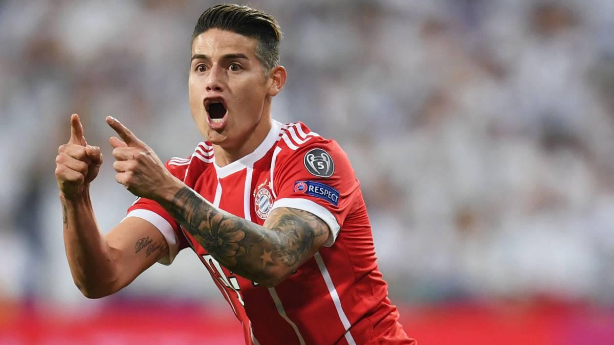 James se aleja del Real Madrid para decepción de Lopetegui