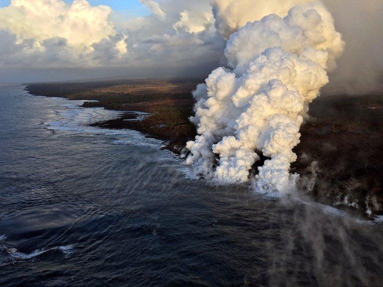 Bomba de lava cayó sobre turistas