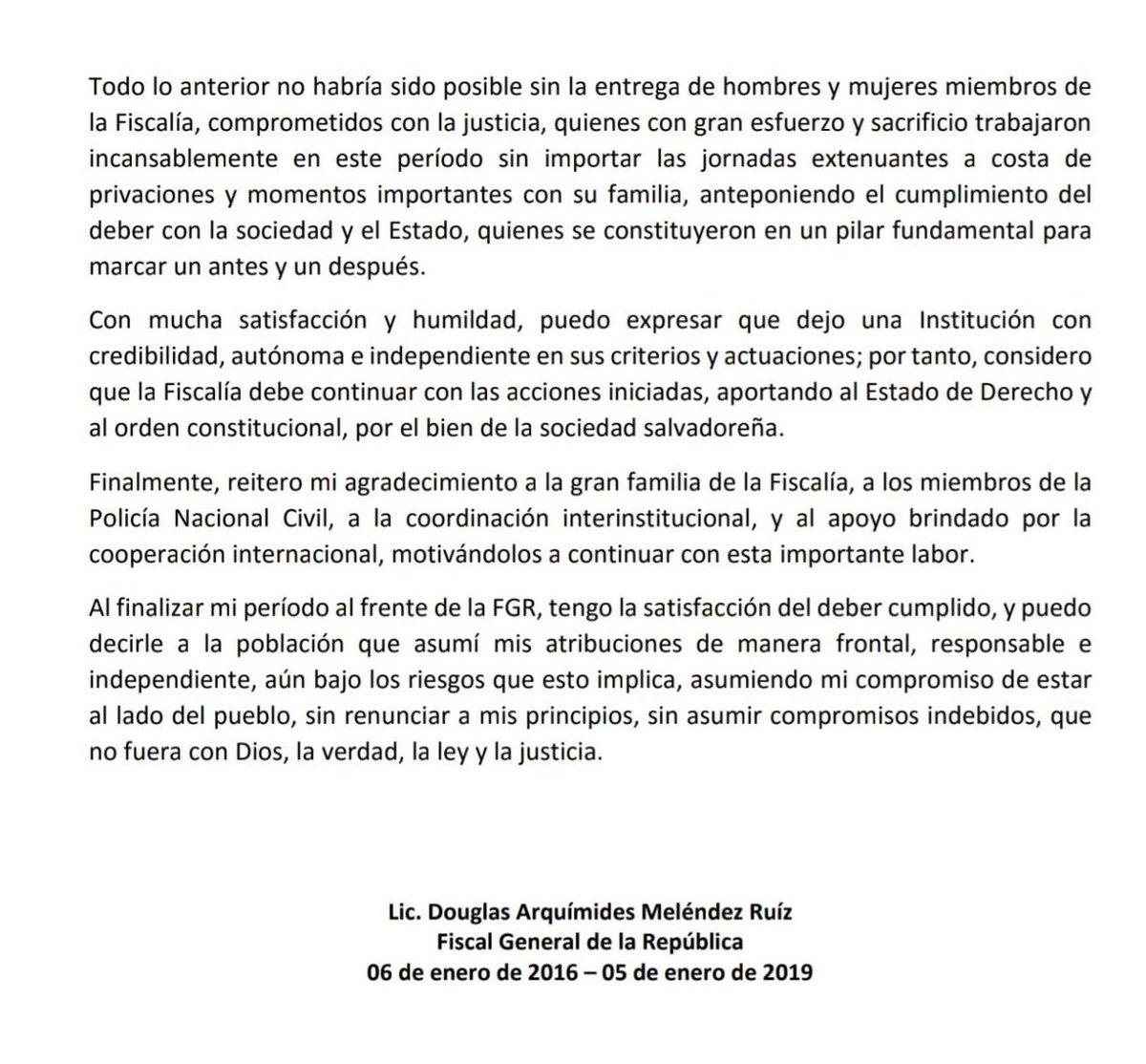 Raúl Melara y Douglas Meléndez se reunen para transición de cargo